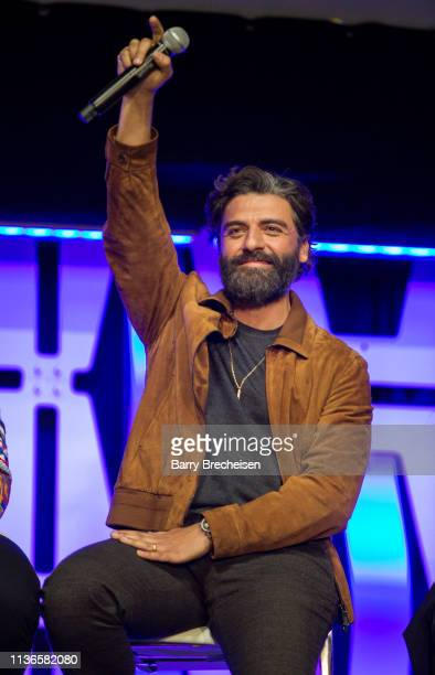 Oscar Isaac during the Star Wars Celebration at the Wintrust Arena on April 12, 2019 in Chicago, Illinois.