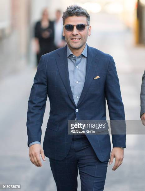 Oscar Isaac is seen at 'Jimmy Kimmel Live' on February 13 2018 in Los Angeles California