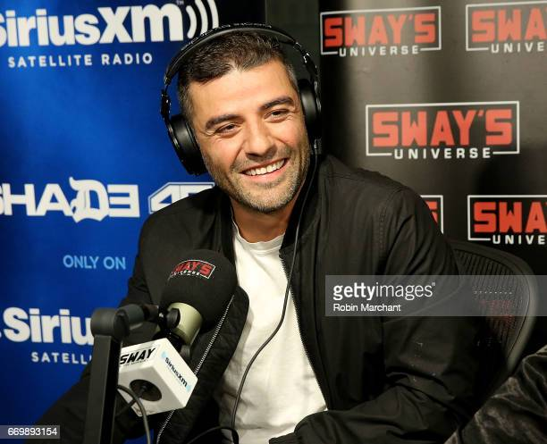 Oscar Isaac visits 'Sway in the Morning' with Sway Calloway on Eminem's Shade 45 at SiriusXM Studios on April 18 2017 in New York City