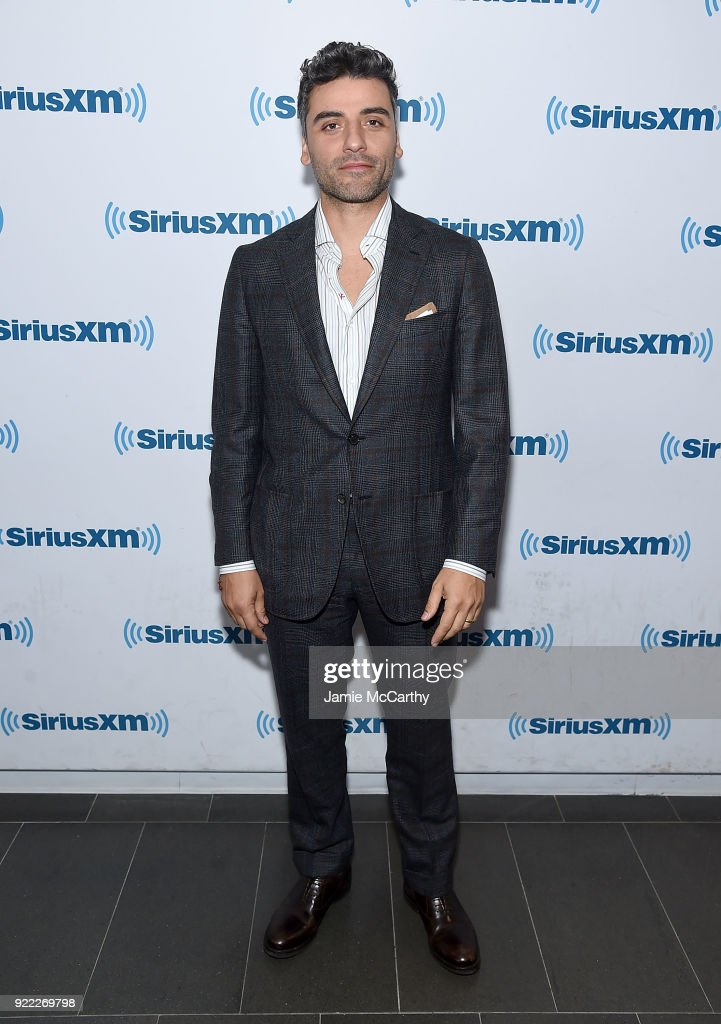 Oscar Issac visits SiriusXM at SiriusXM Studios on February 21, 2018 in New York City.