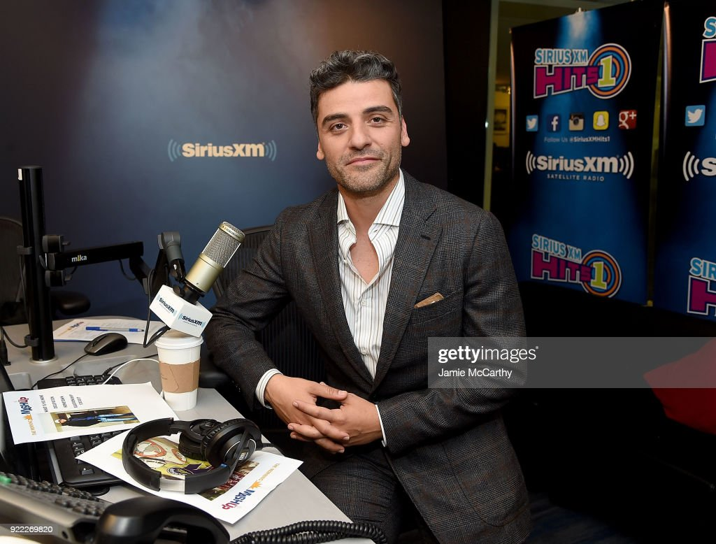 Oscar Issac visits SiriusXM at SiriusXM Studios on February 21, 2018 in New York City.
