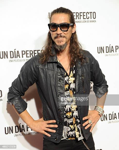 Oscar Jaenada attends the 'A Perfect Day' Premiere at Palafox Cinema on August 25 2015 in Madrid Spain