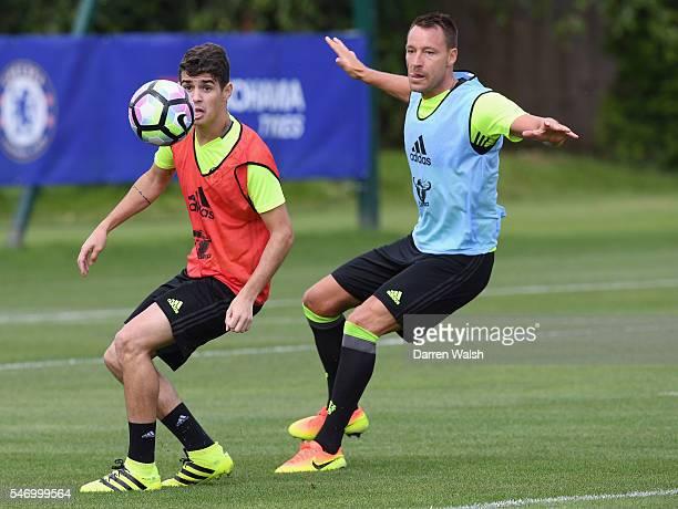 Oscar John Terry at Chelsea Training Ground on July 13 2016 in Cobham England
