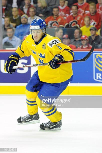 Oscar Klefbom of Team Sweden skates during the 2012 World Junior Hockey Championship Gold Medal game against Team Russia at the Scotiabank Saddledome...