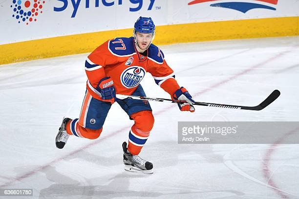 Oscar Klefbom of the Edmonton Oilers skates during the game against the Tampa Bay Lightning on December 17 2016 at Rogers Place in Edmonton Alberta...