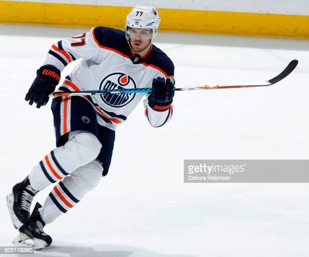 Oscar Klefbom of the Edmonton Oilers skates during the game against the Anaheim Ducks on February 25 2018 at Honda Center in Anaheim California