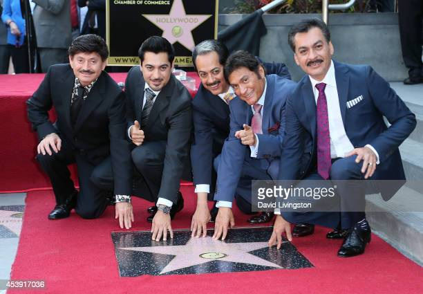 Oscar Lara Luis Hernandez Hernan Hernandez Jorge Hernandez Eduardo Hernandez of Norteno group Los Tigres Del Norte are honored with a Star on the...