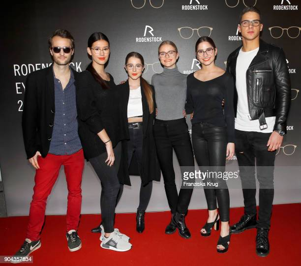 Oscar Lauterbach Isabella Ahrens Enya Elstner Milana Bruges von Pfuel Lucia Strunz and Tyger Lobinger during the Rodenstock Eyewear Show on January...