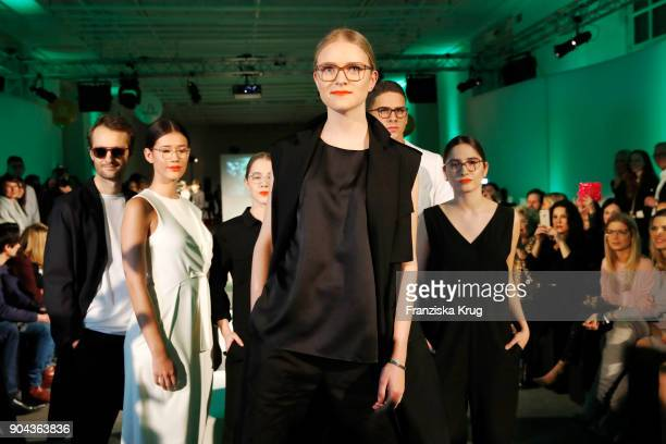 Oscar Lauterbach Isabella Ahrens Enya Elstner Milana Bruges von Pfuel Tyger Lobinger and Lucia Strunz during the Rodenstock Eyewear Show on January...