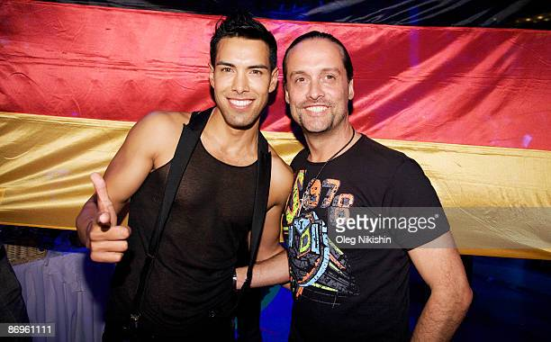 Oscar Loya and Alex Christensen of Germany attends the official opening of the Eurovision Song Contest 2009 on May 10 2009 in the Manezh near Kremlin...