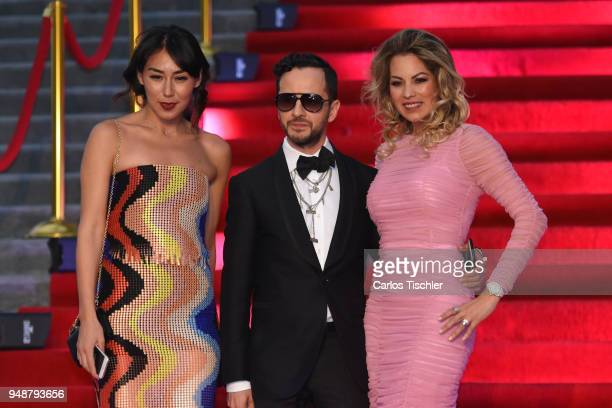 Oscar Madrazo poses prior the Dolce Gabbana Alta Moda and Alta Sartoria collections fashion show at Soumaya Museum on April 18 2018 in Mexico City...
