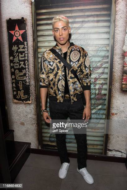 Oscar Marmaduke attends a VIP event in celebration of Elijah Rowen's birthday at ICEBAR on August 17 2019 in London England