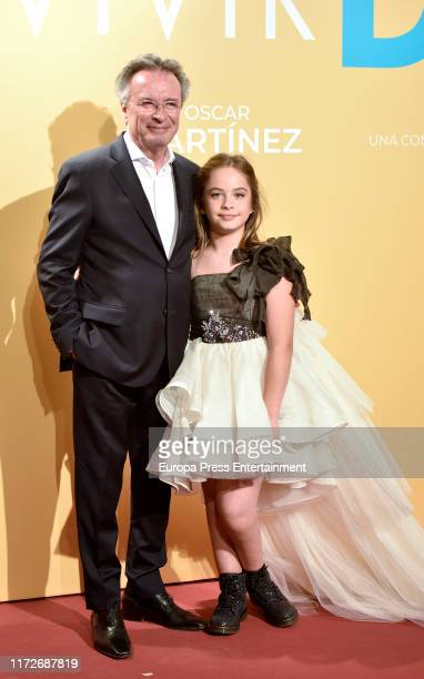 Oscar Martinez and Mafalda Carbonell attend 'Vivir dos veces' premiere at Cinemas Capitol on September 05 2019 in Madrid Spain