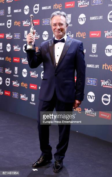 Oscar Martinez is seen at Platino Awards winners press room at La Caja Magica on July 22 2017 in Madrid Spain