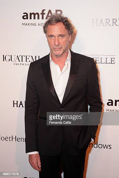 Oscar Metsavaht attends the 5th Annual amfAR Inspiration Gala at the home of Dinho Diniz on April 10 2015 in Sao Paulo Brazil