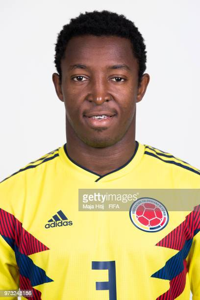 Oscar Murillo of Colombia poses for a portrait during the official FIFA World Cup 2018 portrait session at Kazan Ski Resort on June 13 2018 in Kazan...