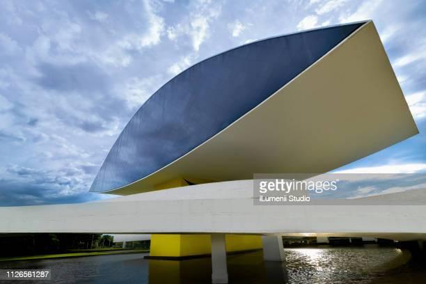 curitiba / paraná / brazil - january 19, 2019: mon oscar niemeyer museum. - curitiba stock pictures, royalty-free photos & images
