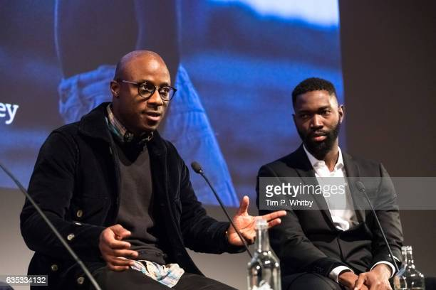 Oscar nominated director Barry Jenkins and Playwright Tarell Alvin McCraney take part in a QA after a preview screening of Moonlight at BFI Southbank...