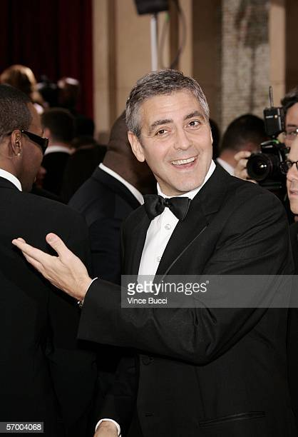 Oscar nominee actor George Clooney arrives at the 78th Annual Academy Awards at the Kodak Theatre on March 5, 2006 in Hollywood, California.