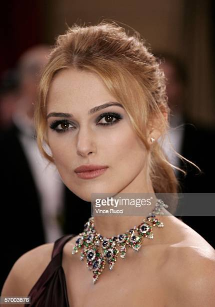 Oscar nominee for Best Actress in a leading role Keira Knightley from the Pride Prejudice arrives to the 78th Annual Academy Awards at the Kodak...