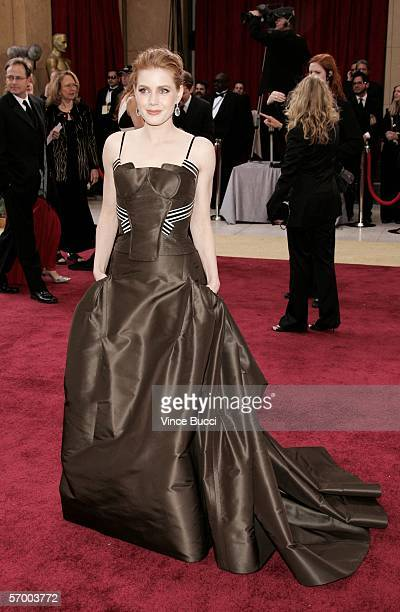 Oscar nominee for Best Actress in a supporting role Amy Adams from 'Junebug' arrives to the 78th Annual Academy Awards at the Kodak Theatre on March...