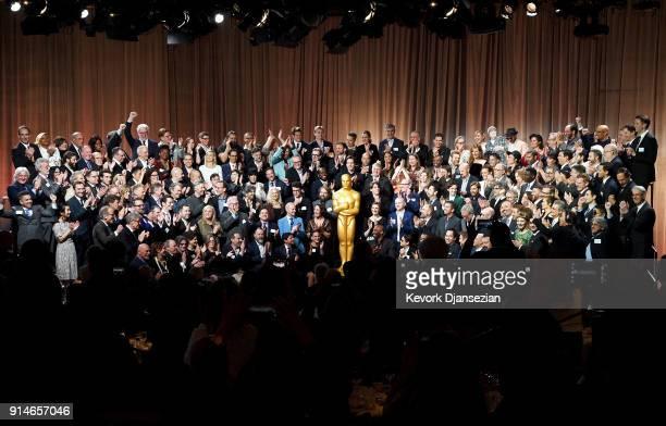 Oscar nominees including Steven Spielberg Guillermo del Toro Gary Oldman Timothee Chalamet Daniel Kaluuya Sally Hawkins Margot Robbie Saoirse Ronan...