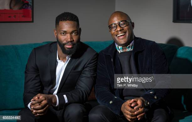 Oscar nomintaed director Barry Jenkins and playwright Tarell Alvin McCraney pose for a photo before taking part in a QA at a preview screening of...