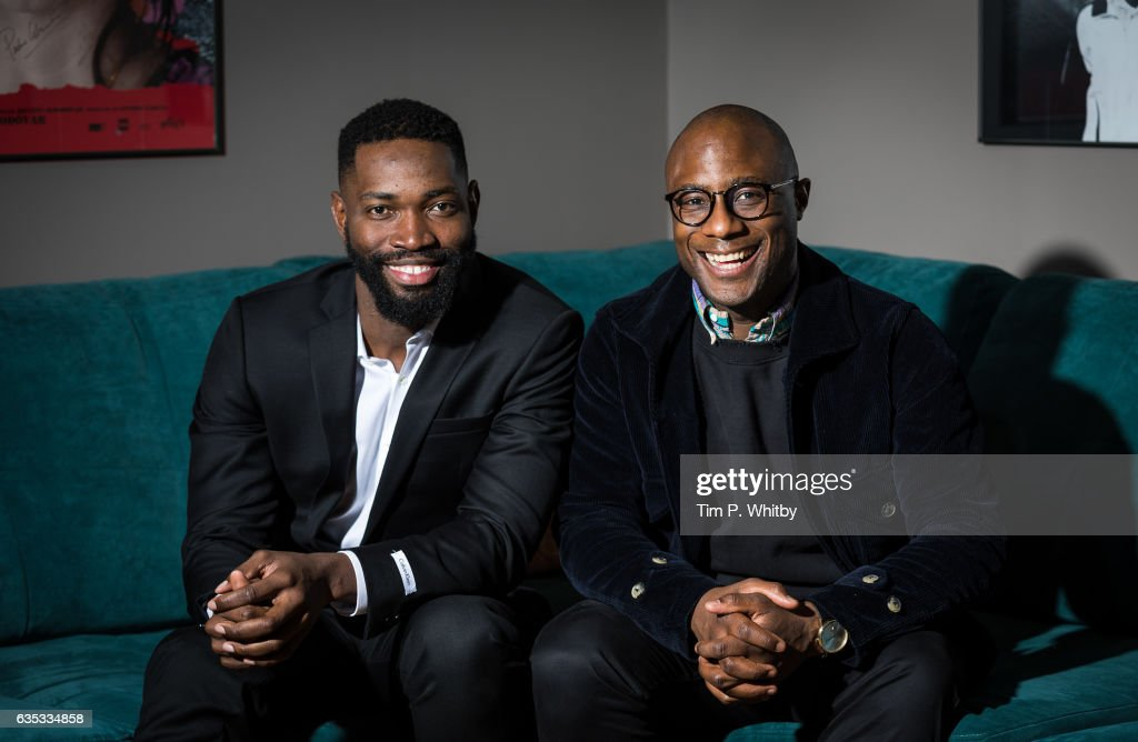 Oscar nomintaed director Barry Jenkins (r) and playwright Tarell Alvin McCraney pose for a photo before taking part in a Q&A at a preview screening of Moonlight at BFI Southbank on February 14, 2017 in London, United Kingdom.