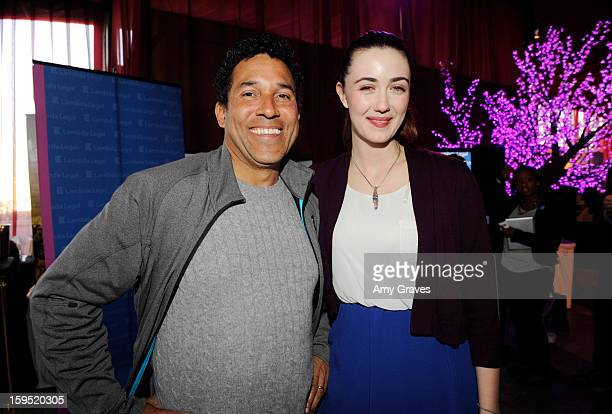 Oscar Nunez and Madeline Zima attend GBK's Luxury Lounge during Golden Globe weekend day 2 at L'Ermitage Beverly Hills Hotel on January 12 2013 in...