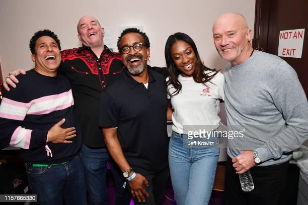 Oscar Nunez, David Koechner, Tim Meadows, Ego Nwodim and Creed Bratton are seen at the 2019 Clusterfest on June 22, 2019 in San Francisco, California.