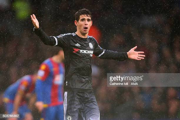 Oscar of Chelsea during the Barclays Premier League match between Crystal Palace and Chelsea at Selhurst Park on January 3 2016 in London England