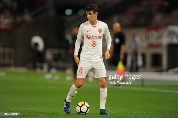 Oscar of Shanghai SIPG in action during the AFC Champions League Round of 16 first leg match between Kashima Antlers and Shanghai SIPG at Kashima...