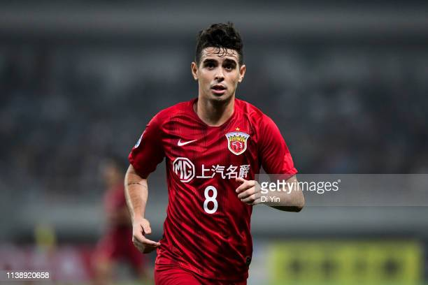 Oscar of Shanghai SIPG reacts during the AFC Champions League Group H match between Sydney FC and Shanghai SIPG at Shanghai Stadium on April 23, 2019...