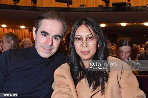 Oscar Ortega Sanchez and MinhKhai PhanThi attend the Ab jetzt theater premiere on January 26 2020 in Berlin Germany