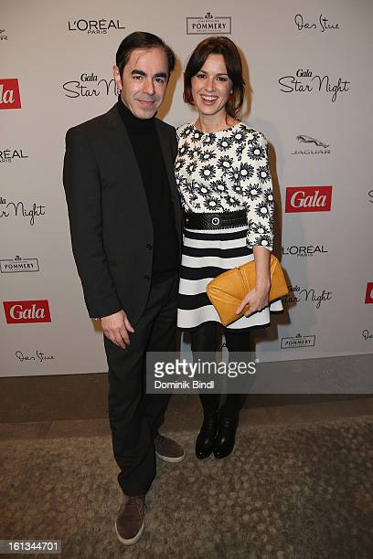 Oscar Ortega Sanchez and Natalia Avelon attend the Gala Star Night during the 63rd Berlinale International Film Festival at the Stue Hotel on...