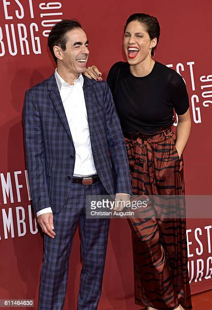 Oscar Ortega Snchez and Jasmin Gerat attend the premiere of 'Amerikanisches Idyll' during the opening night of Hamburg Film Festival 2016 on...