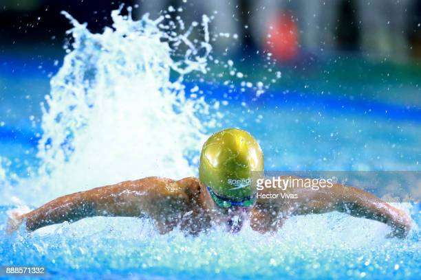 Oscar Osorio of Colombia competes in men's 50 m Butterfly S6 during day 5 of the Para Swimming World Championship Mexico City 2017 at Francisco...