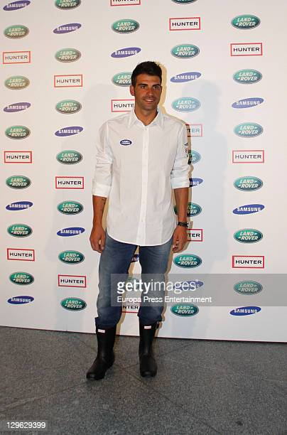 Oscar Pereiro attends II Land Rover Discovery Challenge kick-off at Samarkanda Restaurant on October 19, 2011 in Madrid, Spain.