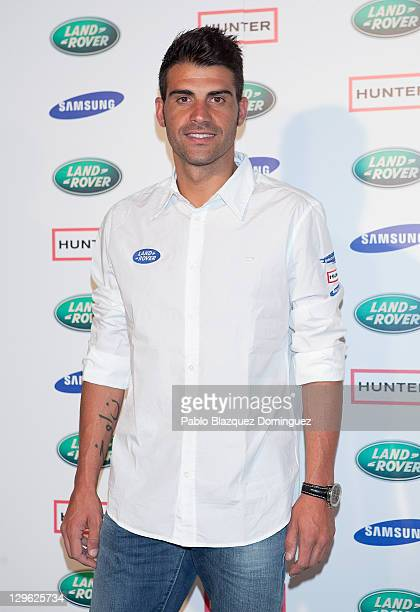 Oscar Pereiro attends 'Land Rover Discovery Challenge' presentation at Atocha on October 19, 2011 in Madrid, Spain.