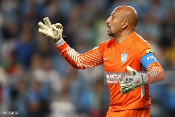 Oscar Perez of CF Pachuca during the FIFA Club World Cup UAE 2017 semifinal match between Gremio FBPA and CF Pachuca on December 12 2017 at the Hazza...