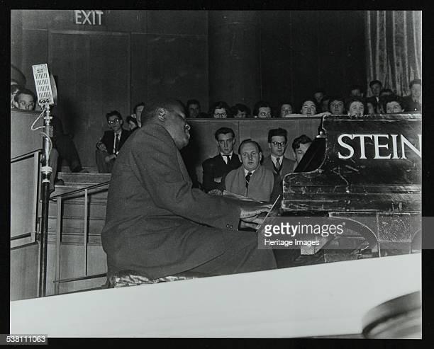 Oscar Peterson in concert at Colston Hall Bristol 1955 Artist Denis Williams