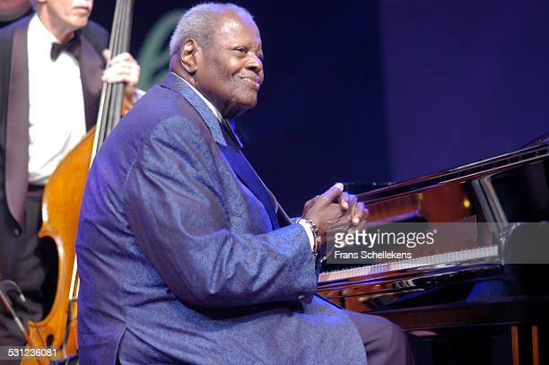 Oscar Peterson, piano, performs at the North Sea Jazz Festival on July 10th 2005 in the Hague, Netherlands.