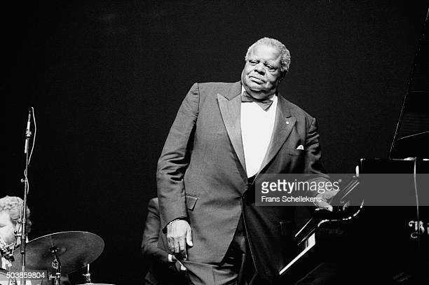 Oscar Peterson, piano, performs on July 12th 1991 at the North Sea Jazz Festival in the Hague, the Netherlands.