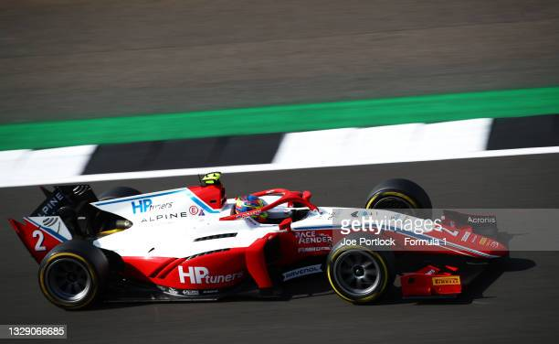 Oscar Piastri of Australia and Prema Racing drives during qualifying ahead of Round 4:Silverstone of the Formula 2 Championship at Silverstone on...