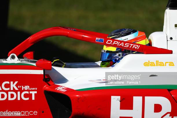 Oscar Piastri of Australia and Prema Racing drives during the Formula 3 Championship Second Race at Mugello Circuit on September 13, 2020 in...