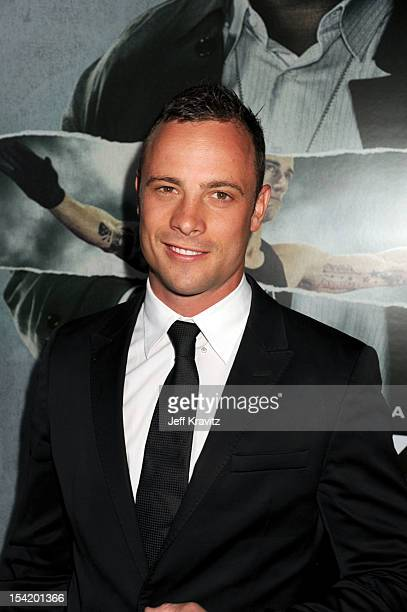 Oscar Pistorius arrive at ArcLight Cinemas Cinerama Dome on October 15 2012 in Hollywood California