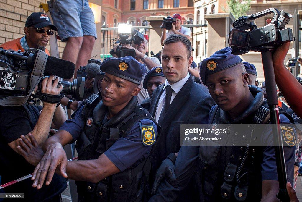 Oscar Pistorius Is Sentenced For Killing Girlfriend : News Photo