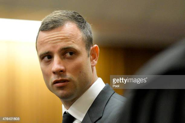 Oscar Pistorius at the Pretoria High Court on March 3 in Pretoria, South Africa. Pistorius, stands accused of the murder of his girlfriend, Reeva...