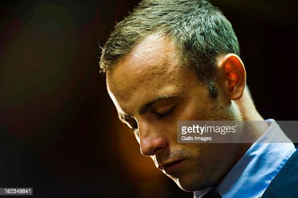 Oscar Pistorius at the Pretoria Magistrates court on February 22 in Pretoria, South Africa. Pistorius is accused of the murder of Reeva Steenkamp on...