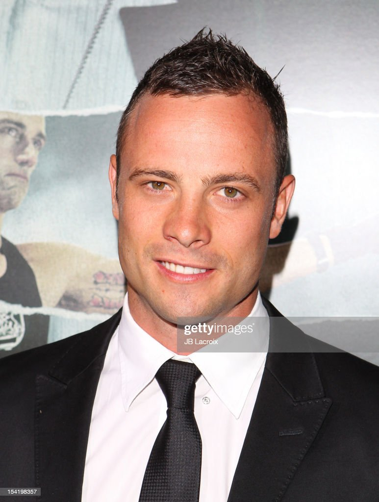 Oscar Pistorius attends 'Alex Cross' Los Angeles Premiere held at ArcLight Cinemas Cinerama Dome on October 15, 2012 in Hollywood, California.